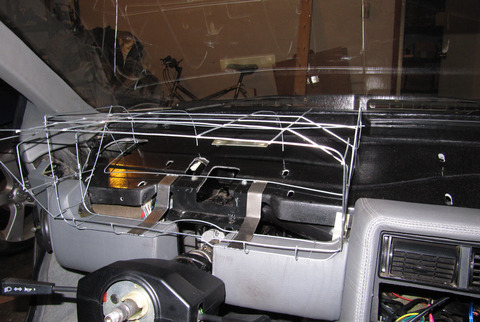 Binnacle prototype wireframe in car, right