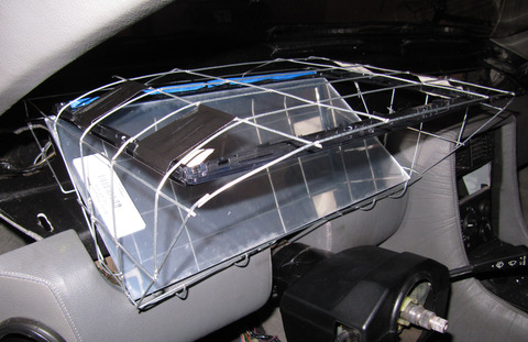Binnacle prototype wireframe with mirror, left