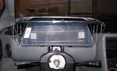 Binnacle prototype wireframe with mirror, front