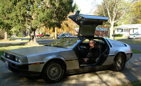 The DeLorean when I first brought it home