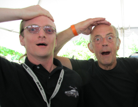 Great Scott pose with Christopher Lloyd